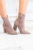 booties, boots, shoes, heel booties, ankle booties, taupe booties, fall shoes, heel ankle booties, taupe, brown booties