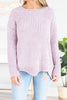 The Perfect Touch Lavender Purple Chenille Sweater