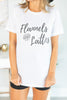 Flannels And Lattes White Graphic Tee