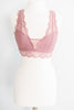 bralette, bra, undergarment, lace, lace bralette, lace bra, solid, racer back bralette, lace racer back bralette, lace bralette, comfy, casual, everyday style, summer, fall, winter, spring, versatile, top, versatile top, elegant details, neutral, neutral top, neutral bralette, pink, light pink, ash pink, pink bralette, pink lace bralette, bandeau, pink bandeau, lace bandeau,