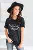 fall, halloween, graphic tees, tees, round neckline, short sleeves, halloween graphic, generous stretch, black