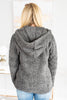 sherpa hoodie, sherpa hoodie with pocket, 1/2 zip sherpa hoodie with pocket, gray sherpa hoodie with 1/2 zip, hoodie, jacket, coat, gray hoodie, casual top, winter top, fall top,