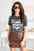 fall, graphic tees, tees, round neckline, short sleeves, graphic, generous stretch, gray