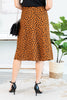 fall, skirt, midi skirt, cheetah print, bold, bold print, sassy slit, midi length, side slit, back zipper closer