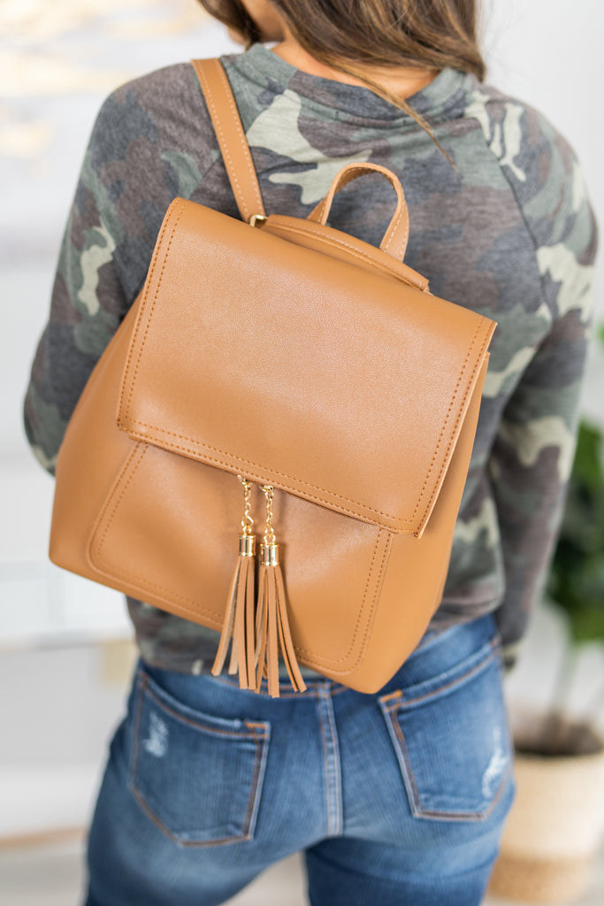 fall, accessories, chic, backpack, trendy, brown, brown backpack