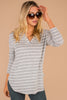 striped hoodie, grey hoodie, soft, classic stripes, long sleeves, stripes, v-neck, slouchy hood, grey, gray, white