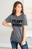 fall, tee, graphic tee, fall tee, round neckline, short sleeves, generous stretch, gray, gray tee, gray graphic tee