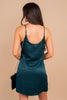 adjustable spaghetti straps, scooped back, draped neckline, hidden side zip closure, simple fit