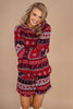 pj top, pajama top, long sleeves, round neckline, winter print, festive, generous fit, comfy