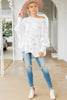 oversized scalloped hem sweater