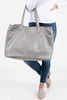 oversized tote, tote, pockets, gray, gray tote