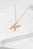 bamboo initial necklace, necklace, initial necklace, gold, long necklace