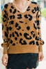 Pace Yourself Brown Leopard Sweater