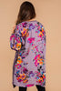 long, bubble sleeves, floral print, pockets, longer length