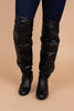 black, winter boots, over the knee boots, boots, black boots, faux leather, versatile, chic
