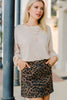 Lead The Way Brown Leopard Skirt