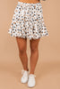 Love This Life Ivory White Polka Dot Skort