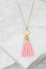 Give It To You Pink Tassel Necklace