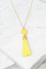 Give It To You Yellow Tassel Necklace