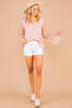 top, pink top,  long bell sleeves, lace, scalloped neckline, button down front, flowy, feminine