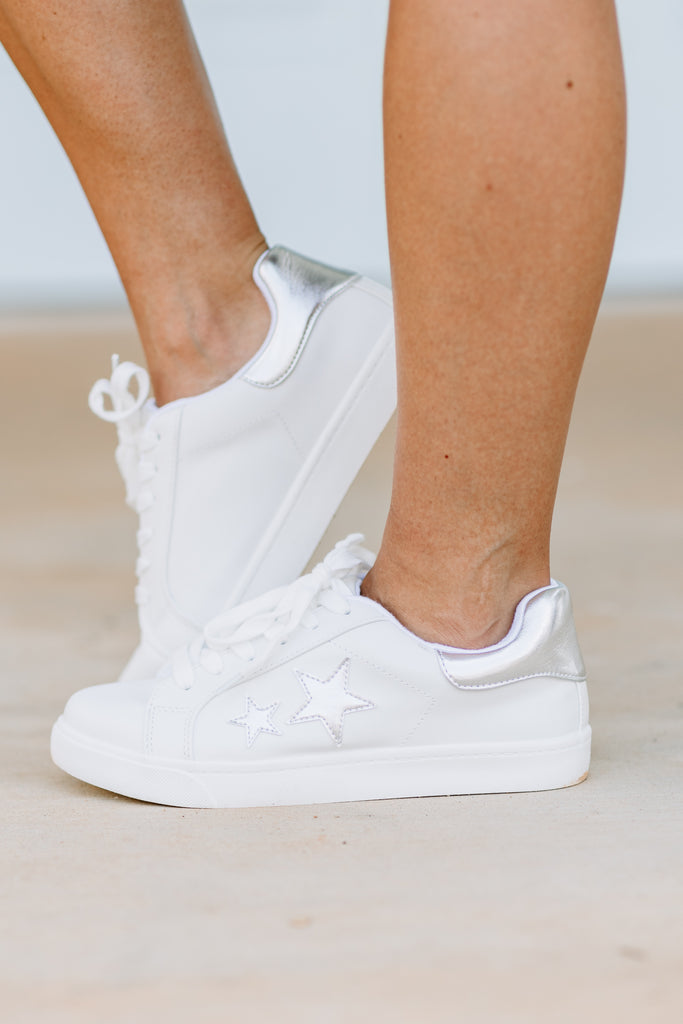 Make You Believe White Sneakers