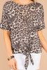 Feeling Wild Leopard Brown Short Sleeve Top