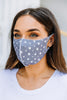 Keep It Covered Denim Blue Star Print Face Mask