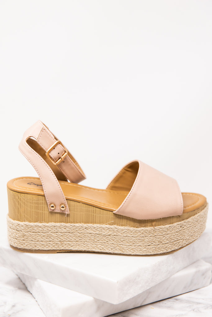 Find You There Blush Pink Wedges - Cute