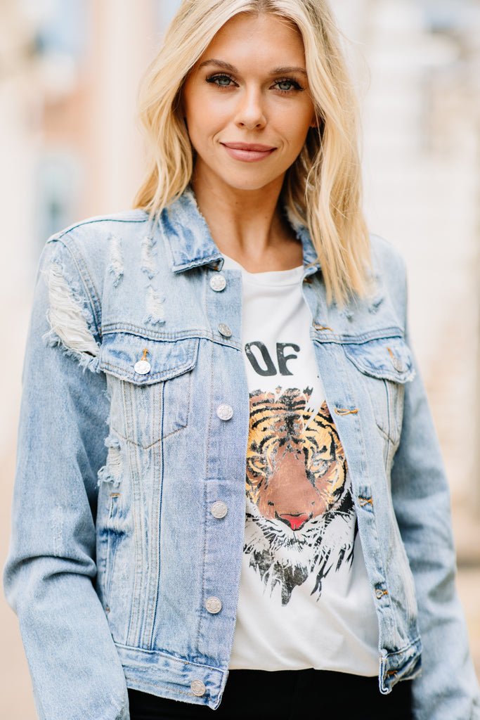 Play Your Games Distressed Denim Jacket