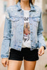 denim jacket, denim, distressed, jacket, pockets