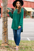 soft solid fleece lined tunic