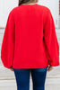 bright bubble sleeve blouse
