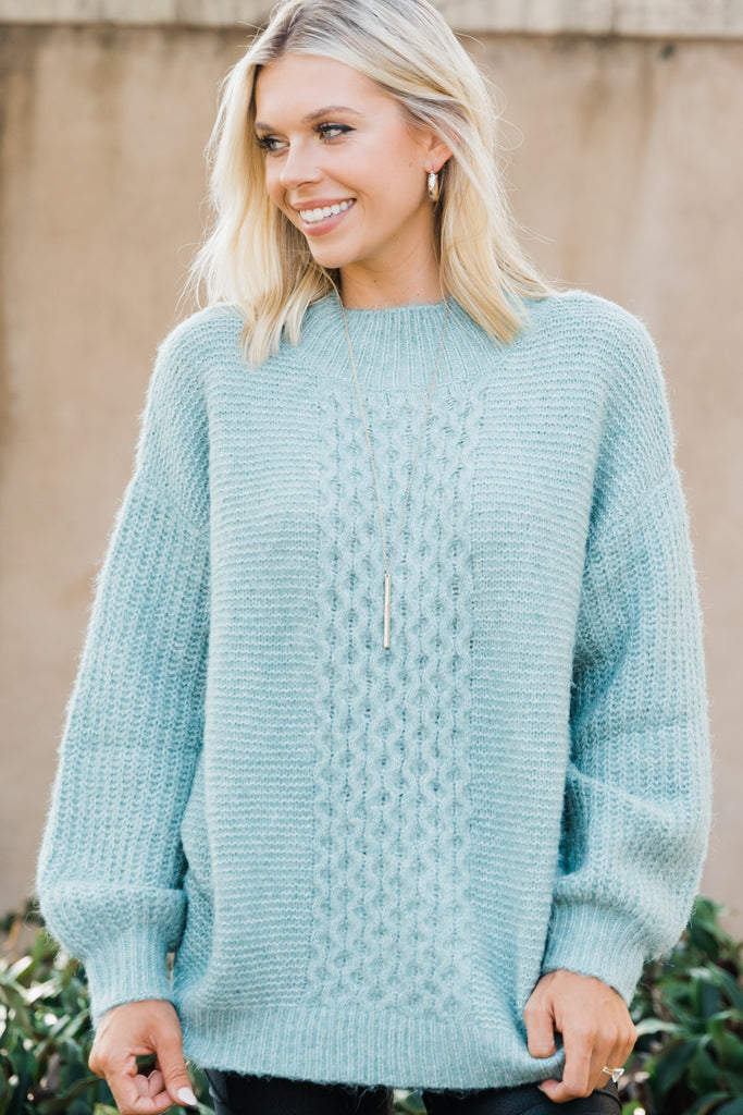 mock neck cozy sweater