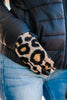 Mud Pie: Fuzzy Tan Brown Leopard Gloves