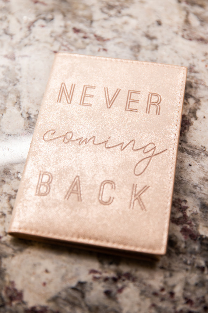 Mud Pie:Never Coming Back Blush Pink Travel Wallet