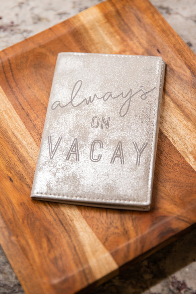 Mud Pie: Alwasy On Vacay Gray Travel Wallet