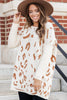 leopard print sweater tunic