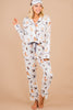 puppy pattern pajama loungewear set