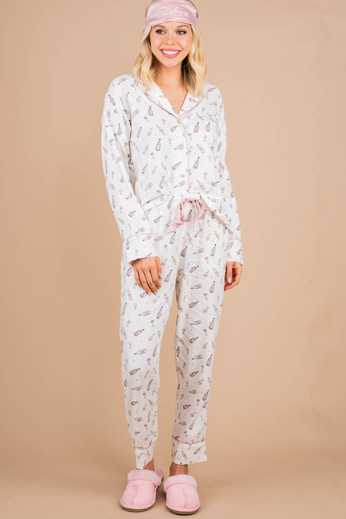Z Supply: Dream State Vanilla White Vino PJ Set