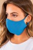 blue, washable face mask