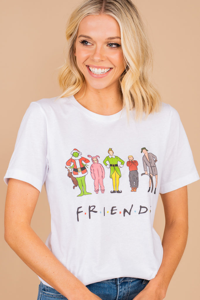 Friends holiday graphics tee