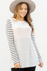 Best Behavior Heather Gray Colorblock Top