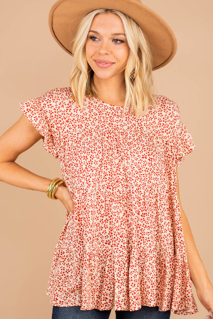 ditsy floral ruffled sleeve top