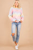 pastel ombre colorblock sweater