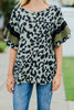Looks Like Fun Olive Green Leopard TOp