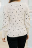 Don't Mess Around Cream Polka Dot Sweater