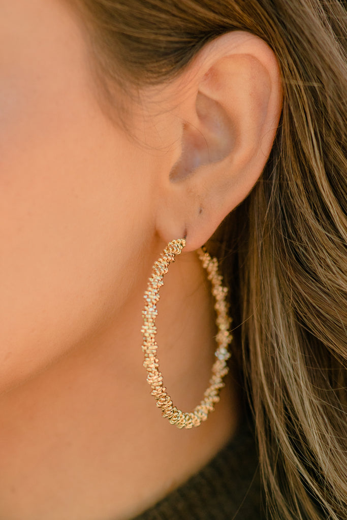 Beautiful Soul Gold Hoop Earrings