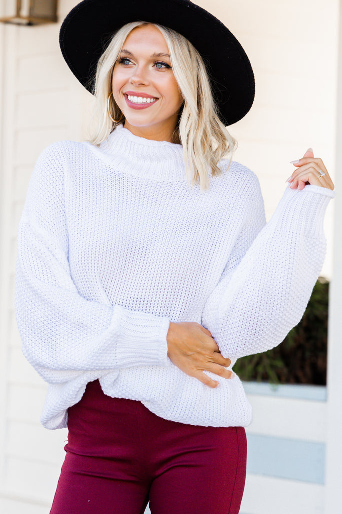 All is fair Ivory White waffle Sweater