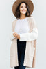 Feel The Pressure Beige Brown Colorblock Cardigan