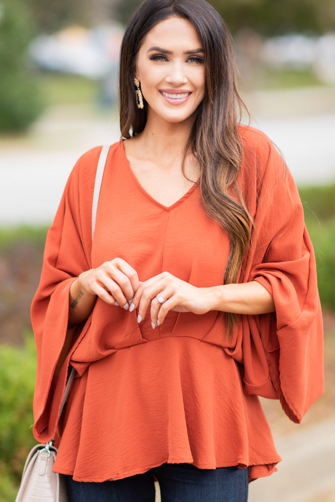 wide sleeve flattering blouse
